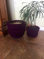 Crochet Recycled Planter